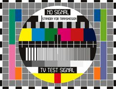 Adam Asar Print featuring the digital art No Tv Signal Poster Art - Tv Graphics Poster Art In Color - No Signal - Standby For Transmission - T by Celestial Images