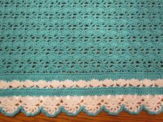 Crochet Baby Blanket Heirloom Lace Boutique by pegsyarncreations
