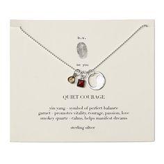 Look what I found at UncommonGoods: quiet courage necklace... for $55 #uncommongoods  For Kathy.