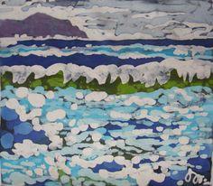 quadro dipinto a mano in tecnica batik