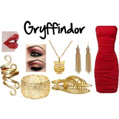 Gryffindor Prom, created by acciousername on Polyvore