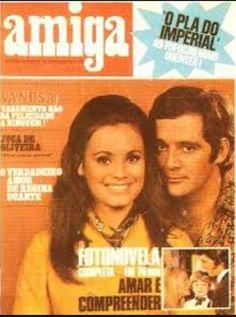 revista amiga -PRIMEIRA CAPA - NOVELA  veu de noiva - FOTO DE CLAUDIO MARZO E REGINA DUARTE - 1969