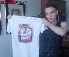 Check it out! My face is on a Tshirt!!! Ya Want one? Get it here- http://smarturl.it/Isaiah-tshirts