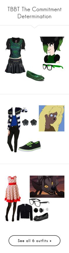 """""""TBBT The Commitment Determination"""" by brainyxbat ❤ liked on Polyvore featuring GERMAN PRINCESS, Funtasma, Disney, Abercrombie & Fitch, Hot Topic, Aqua, Vans, BANZAI, Cole Haan and Sourpuss"""