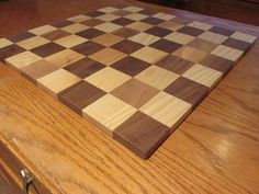 Chess board made of Ash and walnut woods. by APWoodcraft on Etsy