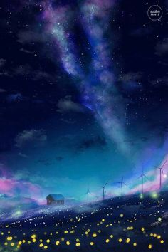 Find images and videos about art, blue and wallpaper on We Heart It - the app to get lost in what you love. Fantasy Landscape, Landscape Art, Fantasy Art, Anime Galaxy, Galaxy Art, Wallpaper Animes, Wallpaper Backgrounds, Galaxy Wallpaper, Wallpapers