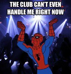 When Spiderman goes clubbing...