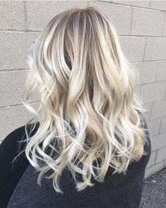 Rooty White-Blonde Balayage for Dark-Blonde Hair