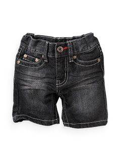 black wash denim shorts