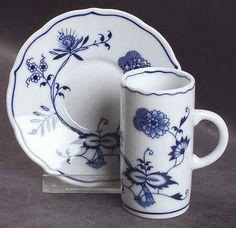 Blue Danube China, Blue And White China, Blue China, Coffee Cups And Saucers, Cup And Saucer Set, Tea Cup Saucer, Blue Dishes, White Dishes, Large Fruit Bowl