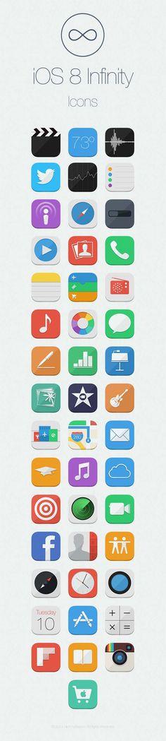 iOS 8 Infinity Concept And Future Cydia Theme [video] Mobile Ui Design, Web Ui Design, App Icon Design, Ui Design Inspiration, Brand Design, Application Icon, Mobile Application, Ios Ui, Flat Design Illustration