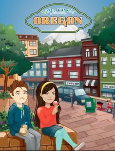 Journey through Oregon's beautiful outdoors with the state journal in our USA Edition!- Little Passports #littlepassports #oregon #statesforkids