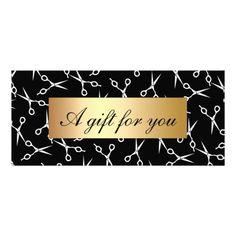 Hair Stylist Scissors Gold Label Gift Certificates