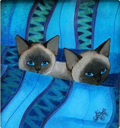 «La sieste en bleu», par Girofla (= Eliane & Monique)
