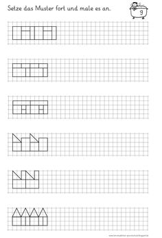lernst bchen muster fortsetzen und anmalen mathe 1 klasse pinterest muster mathe und schule. Black Bedroom Furniture Sets. Home Design Ideas