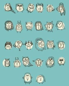 I am only going to write in Owlphabet from now on.