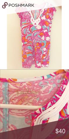 Lilly Pulitzer dress Beautiful colors!! Only worn a handful of times! Like brand new!! Lilly Pulitzer Dresses Mini