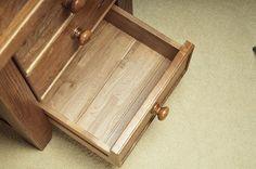 Acton Solid Oak Bedroom Furniture Three Drawer Bedside Cabinet | eBay