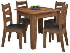 Conjunto de Mesa 4 Cadeiras - Celta Móveis Isis com as melhores condições você encontra no Magazine Jsantos. Confira!