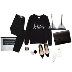 {at the office | style inspiration : chic in black} - {this is glamorous}