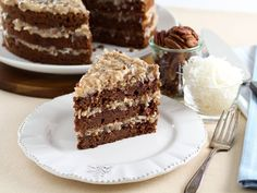 A traditional recipe and history for German Chocolate Cake from food historian Gil Marks on The History Kitchen