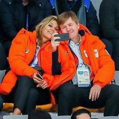 """European Royal Families on Instagram: """"King Willem-Alexander and Queen Máxima are in South Korea to support the athletics of the Netherlands at the Winter Olymipic Games…"""""""