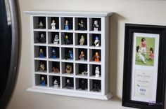 Display case for legos or other small things for kids room