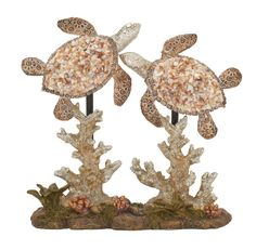 Double Sea Turtle Figurine