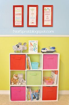 I love this playroom makeover -- the prints pictured here can be downloaded