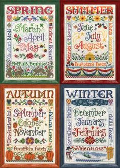 Four Seasons Cross Stitch. So nice but the price is up there. At least you do get all four I guess. Really wish I could do.