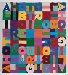 Alighiero Boetti, ALIGHIERO BOETTI ALIGHIERO BOETTI ALIGHIERO BOETTI ALIGHIERO BOETTI, embroidery on fabric