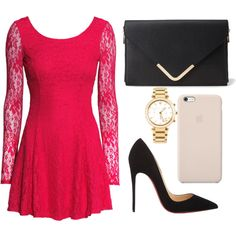 Untitled #279 by bthorne on Polyvore featuring H&M, Christian Louboutin, Forever 21, Michael Kors and Black Apple