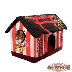 Flowers Print Dogs Bed Soft Puppy Cat House Country Style Washable Pet Kennel