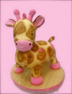 plush giraffe cake by debbiedoescakes, via Flickr