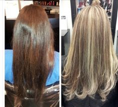 Dark to blonde hair color! Natural highlights!