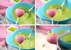 Strawberry Cake Pops by @Erin Phillips