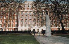 Grosvenor Square - in THE EXPLORER'S CODE - the villain stays in the Millenium Mayfair Hotel.