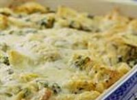 Broccoli Mushroom Casserole   This easy, low-fat broccoli casserole is made with a homemade white sauce instead of a can of cream soup and is topped wtih seasoned breadcrumbs and Parmesan cheese.