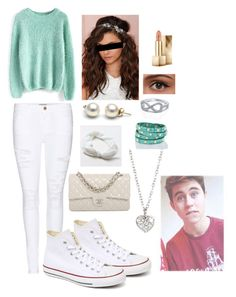 """A date with... Nash Grier"" by sierra-light ❤ liked on Polyvore featuring Chicwish, Frame Denim, Converse, Chanel, American Eagle Outfitters, Berry, Finn, Brahmin, Burberry and women's clothing"