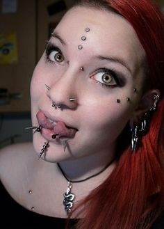 Images of christina piercings video - Face Piercings, Crazy People, Tall People, Unusual Jewelry, Girl With Curves, Look In The Mirror, Body Modifications, Fantasy Girl, Body Mods