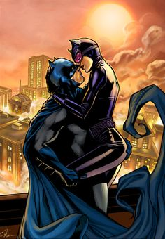 """kamisamafr: Batman & Catwoman - Jim Lee Tribute by Ty Romsa """