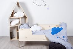 My label home concept - dollhouse, kids bed, kids bedding, cloude