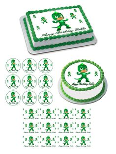 PJ Masks Gekko Edible Birthday Cake Topper