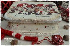 Новогодняя сказка Christmas Decoupage, Butter Dish, Dishes, Cake, Desserts, Food, Tailgate Desserts, Deserts, Tablewares