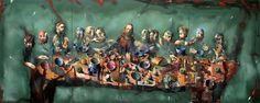 Nattverden/The Last Supper. Painting by Norwegian artist Håkon Gullvåg