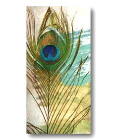 This Feather Abstract I Canvas Wall Art is perfect! #zulilyfinds