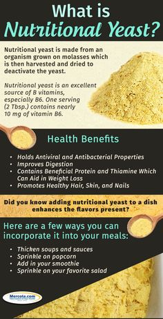 Discover how nutritional yeast is beneficial to your health. Nutritional yeast is widely regarded as a good source of B vitamins, including vitamin B12.