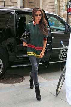 Celebrities who know how to make jeans chic: Victoria Beckham