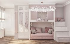 Gorgeous girls design and decor inspiration! Bed For Girls Room, Bedroom Decor For Teen Girls, Cute Bedroom Ideas, Room Ideas Bedroom, Small Room Bedroom, Baby Room Decor, Girl Room, Kids Bedroom Designs, Room Design Bedroom