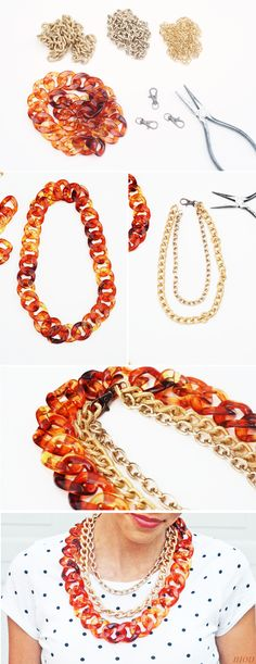 In Honor Of Design: 3 Yards of Chain = 3 Statement Pieces (DIY)